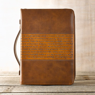 Courageous Bible Cover, Brown, Large  -