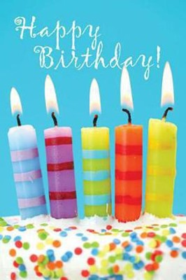 Child's Birthday Cake Postcard (Postcard of 25): 5 Birthday Candles  -