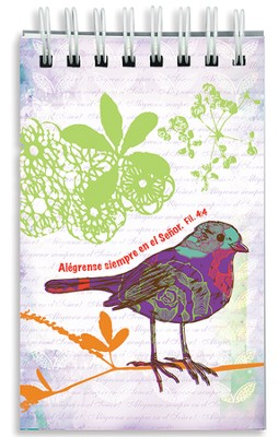 Alégrense En El Señor, Libreta En Espiral    (Rejoice In The Lord, Wirebound Notepad)  -