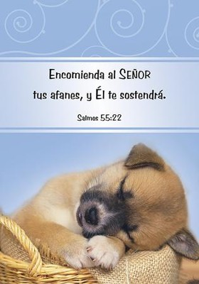 Encomienda Al Señor Tus Afanes, Libreta  (Cast Your Cares, Notepad)  -