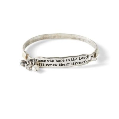 Those Who Hope in the Lord Will Renew Their Strength Bracelet, Silver  -