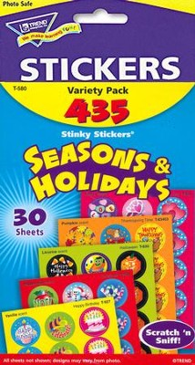 Seasons & Holidays Jumbo Pack Stinky Stickers  -