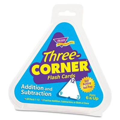 Three-Corner Flash Cards (Addition and Subtraction)  -