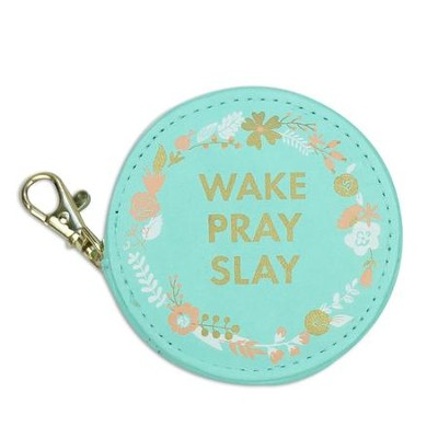 Wake Pray Slay Earbud Case  -