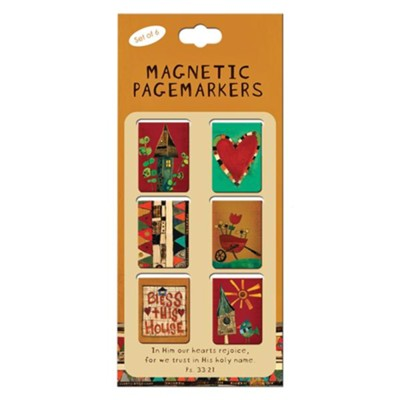 Bless This House Magnetic Bookmarks, Pack of 6  -