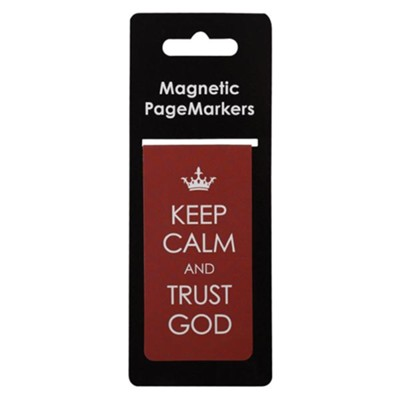 Keep Calm and Trust God Magnetic Bookmark, Large  -