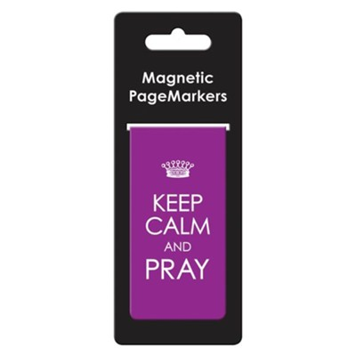 Keep Calm and Pray Magnetic Bookmark, Large  -
