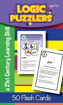 Logic Puzzlers Flash Cards, Ages 7-8   -