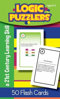 Logic Puzzlers Flash Cards, Ages 8-9   -