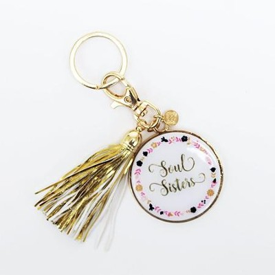 Soul Sisters Keychain with Tassel  -