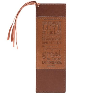 Steadfast Love Bookmark, Brown and Tan  -