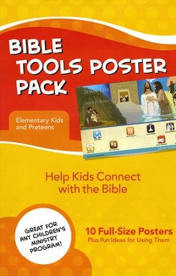 Bible Tools Poster Pack for Elementary Kids  -