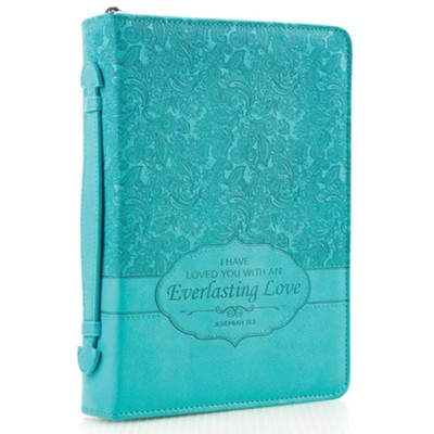 Everlasting Love Bible Cover, Turquoise, Large  -