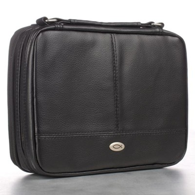 Two-Fold Organizer LuxLeather, Black, XL  -