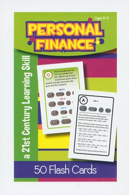 Personal Finance Flash Cards, Ages 8-9   -