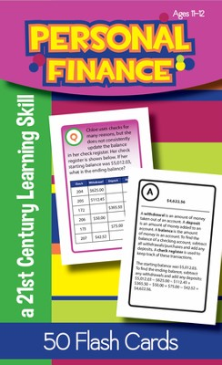 Personal Finance Flash Cards, Ages 11-12   -