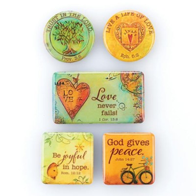 Peaceful Thoughts Magnet Set  -