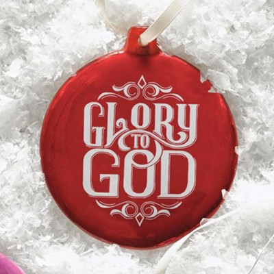 Hand-Drawn Ornament Glory to God  -