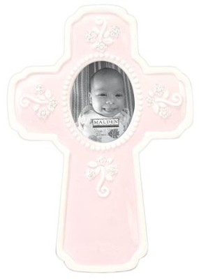 Ceramic Cross, Pink  -