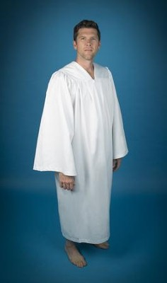 Pleated Baptismal Gown for Men, Large  -