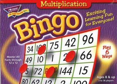 Multiplication Bingo Game  -