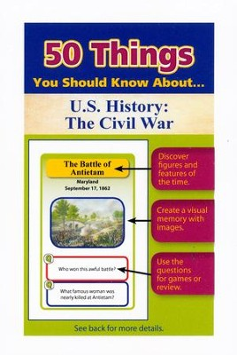 50 Things You Should Know About U.S. History: The Civil War Flash Cards  -     By: Jonathan Gross