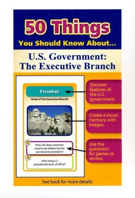 50 Things You Should Know About U.S. Government: The Executive Branch Flash Cards  -