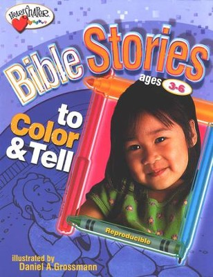 Bible Stories to Color & Tell (Ages 3-6)   -