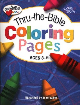 Thru-the-Bible Coloring Pages, Ages 3-6   -