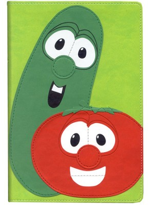 NIV VeggieTales Bible, Italian Duo Tone green  - Slightly Imperfect  -
