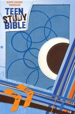 KJV Teen Study Bible Soft leather-look, sky blue/fudge   -     By: Lawrence O. Richards, Susan Richards