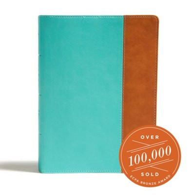 CSB Tony Evans Study Bible--soft leather-look, teal/earth (indexed)  -     By: Tony Evans