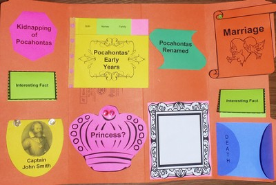 Pocahontas Mini-Lapbook (Assembled Edition)  -     By: Cyndi Kinney