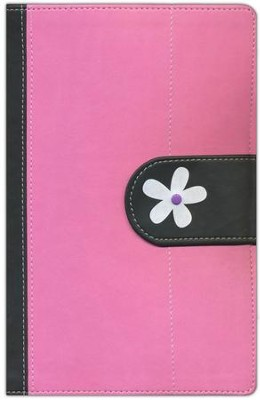 NIV Faithgirlz! Bible, Revised Edition, Italian Duo-Tone, Pink/Black  -     By: Nancy Rue