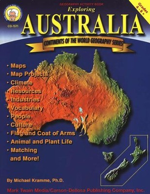 Continents of the world geography series exploring australia continents of the world geography series exploring australia grades 4 8 gumiabroncs Images