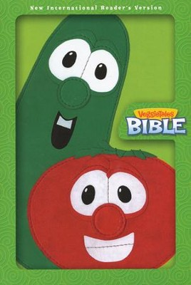 The VeggieTales Bible, NIrV, Italian Duo-Tone, Lime Green  -