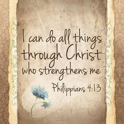 I Can Do All Things Through Christ Who Strengthens Me Coaster  -