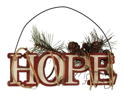 Hope Ornament, with Pinecones  -