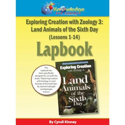 Apologia Exploring Creation with Zoology 3: Land Animals of the 6th Day Lapbook Package Kit (Lessons 1-14)  -     By: Cyndi Kinney