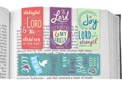 Delight In the Lord, Magnetic Bookmarks, Set of 4  -