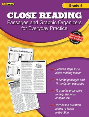 Close Reading Practice Book, Grade 4   -