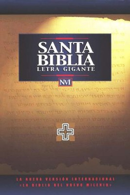 Biblia NVI Letra Gigante, piel imitada, negra  (NIV Giant Print Bible, Imitation Leather, Black)  -