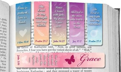 Assorted Magnetic Scripture Bookmarks, Pack of 6  -