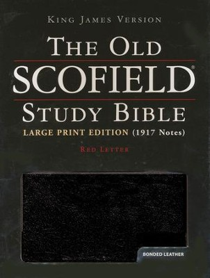 KJV Old Scofield Study Bible, Large Print, Bonded leather, Black,  Thumb-Indexed  -