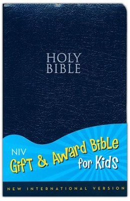 NIV Gift & Award for Kids, Navy Leather-Look  -