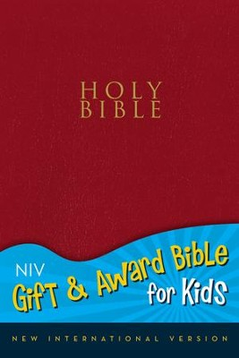 NIV Gift & Award for Kids, Red Leather-Look          -