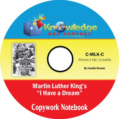 Martin Luther King Jr. Copywork Notebook PDF CD-ROM  -     By: Candie Donner
