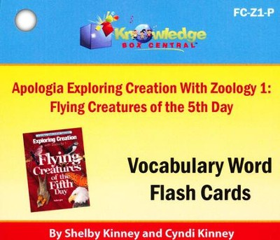 Exploring Creation with Zoology 1: Flying Creatures of the 5th Day Vocabulary Flash Cards (Printed Edition)  -     By: Cyndi Kinney, Shelby Kinney