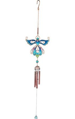 Angel Wind Chime, Blue  -