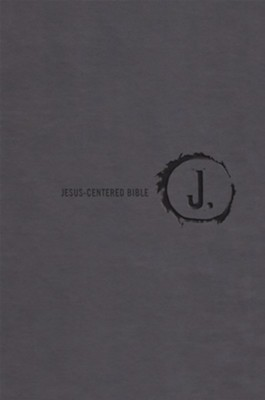 NLT Jesus Centered Bible, soft leather-look, charcoal   -